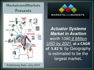 Actuator Systems Market in Aviation worth 1090.9 Million USD by 2021