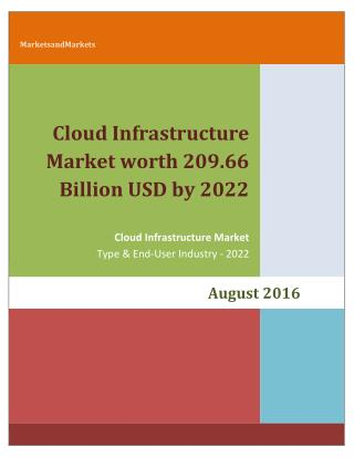 Cloud Infrastructure Market worth 209.66 Billion USD by 2022