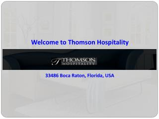 Custom Contemporary Furniture in Florida | Thomson Hospitality