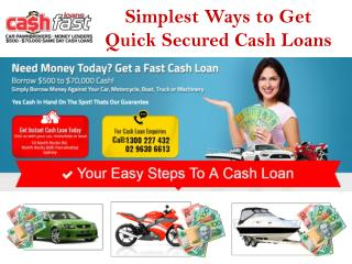 Easy, Effective & Authentic way to Get Bad Credit Cash Loans