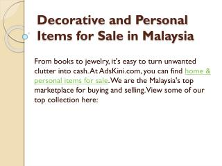 Decorative and Personal Items for Sale in Malaysia