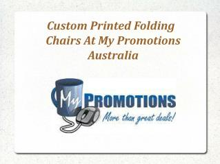 Promotional Folding Chairs at My Promotions Australia