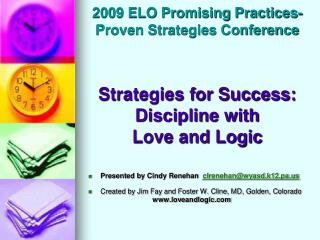 2009 ELO Promising Practices- Proven Strategies Conference