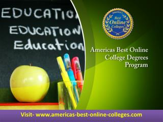 Americas Best Online College Degrees