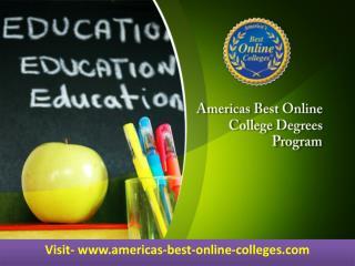 Americas Best Online College Degrees