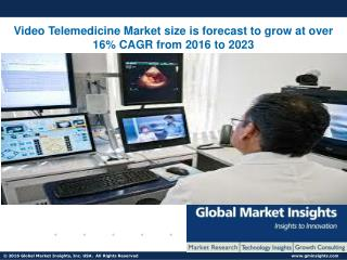 Video Telemedicine Market size is forecast to grow at over 16% CAGR from 2016 to 2023