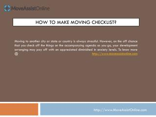 Top List of Moving Checklist for Easy Relocation