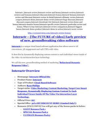 Interactr reviews and bonuses Interactr