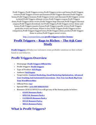Profit Triggers Review - (FREE) Bonus of Profit Triggers