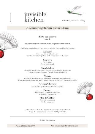 7 Course Vegetarian Picnic Menu | Catering Hong Kong | Invisible Kitchen