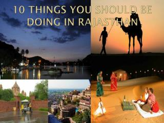 10 Things you should be doing in Rajasthan