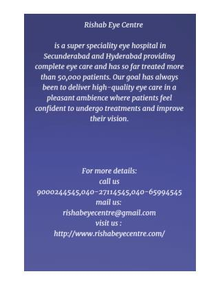 Best Eye Hospital in Secunderabad and Hyderabad