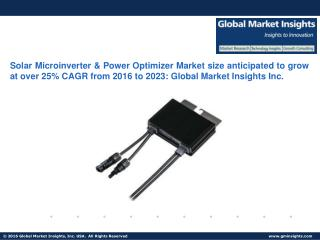 Solar Microinverter & Power Optimizer Market size anticipated to grow at over 25% CAGR from 2016 to 2023