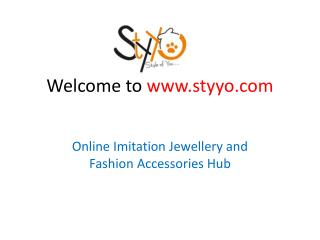 Desiger imitation handmade jewellery online for women at styyo