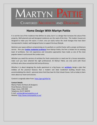 Home Design With Martyn Pattie