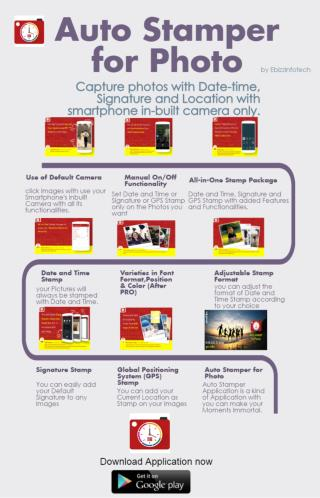 Auto Stamper for Photo Infographic