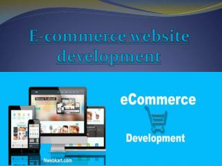 E-commerce website development