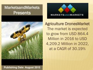 Agriculture Drones Market worth 4,209.2 Million USD by 2022