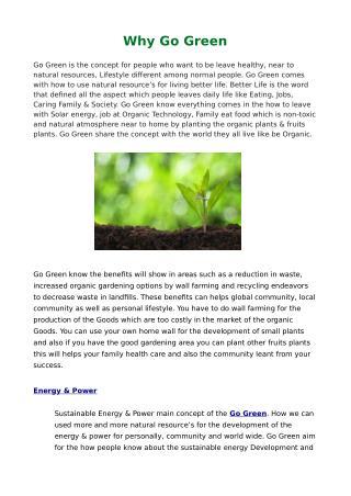 Environmentally Friendly Houses