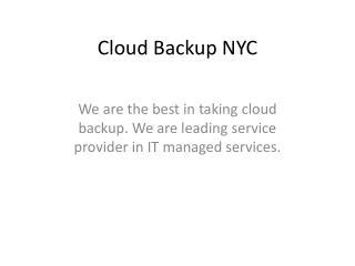 Cloud Backup NYC
