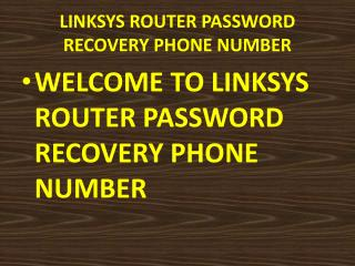 Linksys router customer care Phone Number