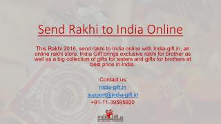 Send Rakhi to India and Rakhi Gifts to India