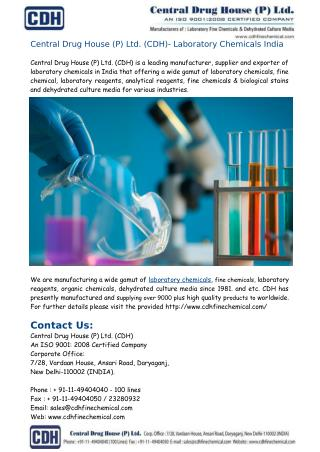 CDH- Laboratory Chemicals Suppliers India