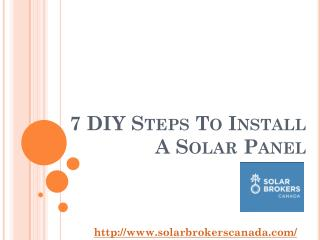 7 DIY Steps To Install A Solar Panel