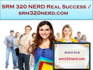 SRM 320 NERD Real Success / srm320nerd.com