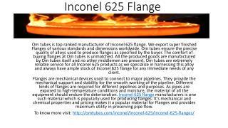 Inconel 625 Flange
