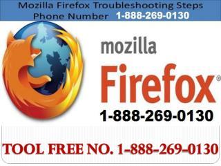 Mozilla Firefox Helpline 1-888-269-0130 Number