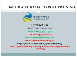 Sap hr australia payroll online training | SAP HR AUS PAYROLL ONLINE TRAINING