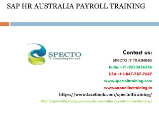 online training sap hr australia payroll | sap hr australia payroll online training