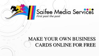 Make your Own Business Cards Online For Free