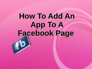 How TO Add An App  To A Facebook Page (3)