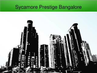 Prestige Sycamore Pre Launch Project