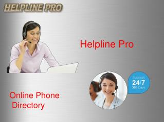 Telephone directory|-Helpline Pro