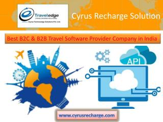 Cyrus Recharge - Best Travel Portal Provider Company in India
