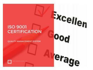 ISO 9001 QMS Certification Quality System