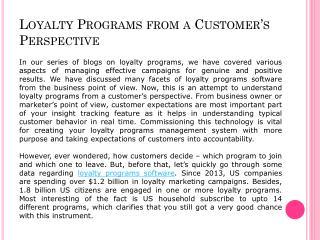 Loyalty Programs Software