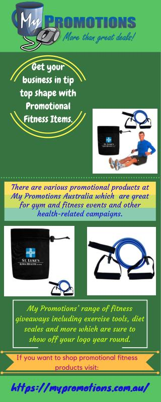 Promotional Fitness Items | My Promotions Australia