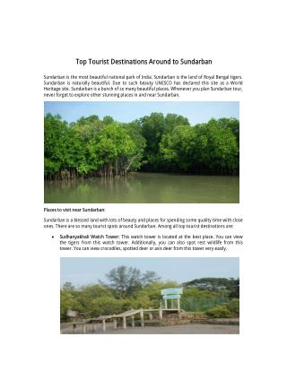 Top 10 Tourist Destination Around to Sundarban