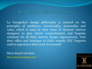 Best Luxury Interior Company