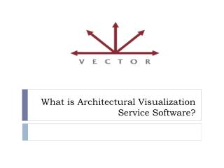 What is Architectural Visualization Service Software?
