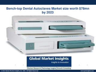 Bench-top Dental Autoclaves Market size worth $78mn by 2023