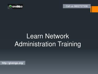 Learn Network AdministrationTraining