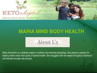 Nutrition and Meal Plans | Maria Mind Body Health