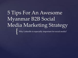 5 Tips For An Awesome Myanmar B2B Social Media Marketing Strategy
