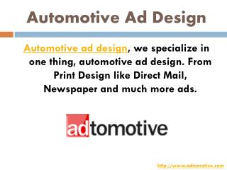 Automotive Ad Design