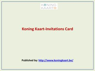 Koning Kaart-Invitations Card